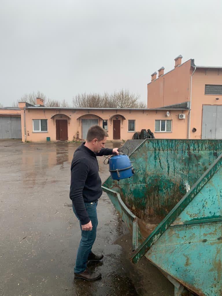 Коломенцы активно используют площадку «Мегабак» для утилизации крупногабаритных отходов и старых автопокрышек