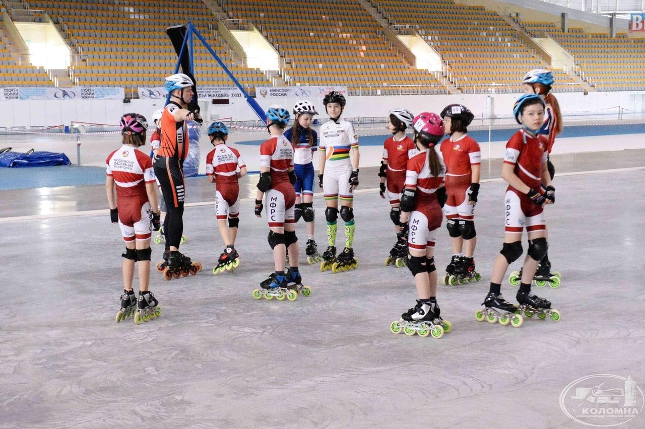 Тренировочные сборы по спидскейтингу Московской федерации роллер спорта проходят в Коломне