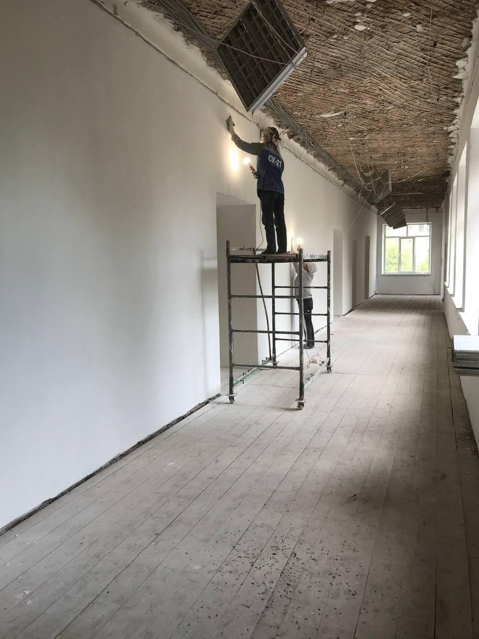 В школе «Надежда» продолжается капитальный ремонт