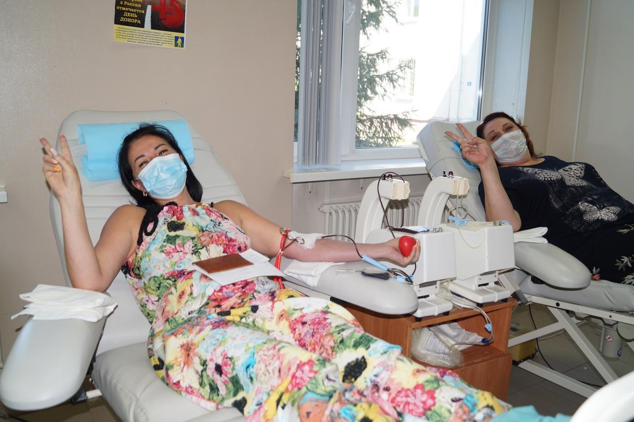 Сотрудники коломенских организаций и предприятий сдают кровь для пациентов Коломенской ЦРБ