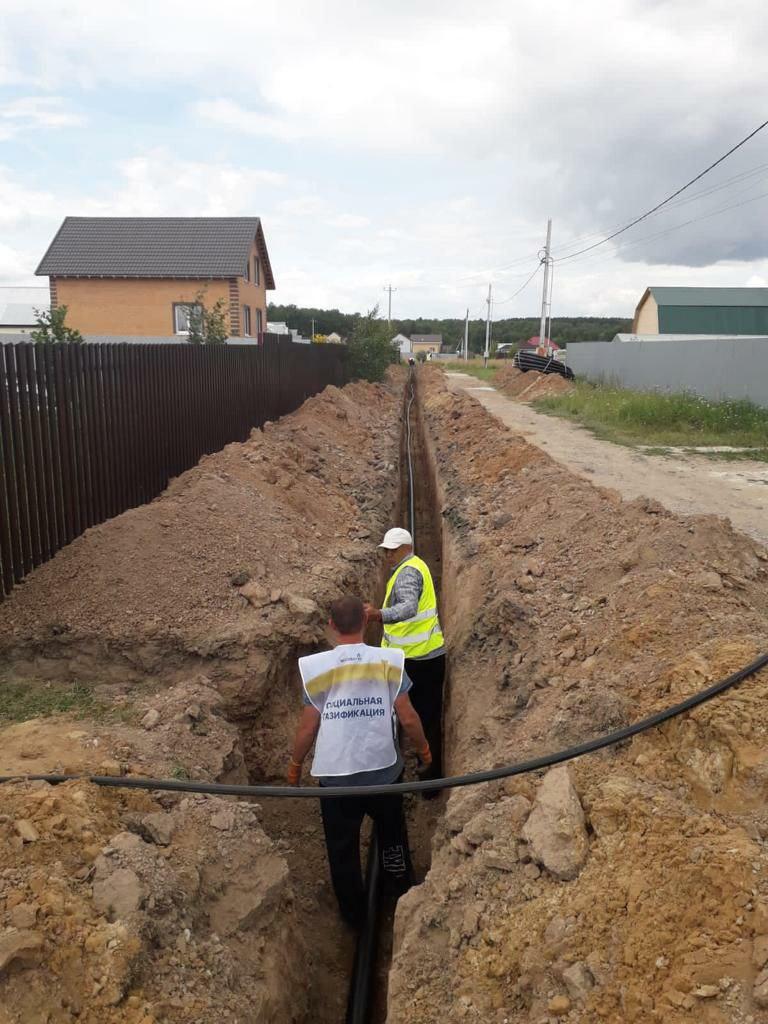 Строительство газопровода выполняет «Мособлгаз» в селе Непецино